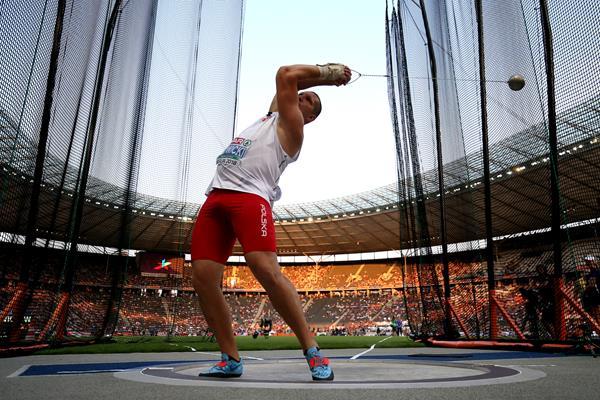 Hammer winner Wojciech Nowicki at the European Championships in Berlin (Getty Images)