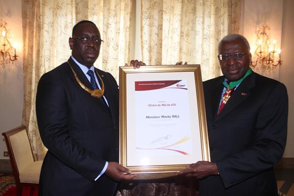 President of Senegal Macky Sall and IAAF President Lamine Diack  (IAAF)