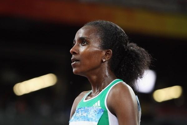 Tirunesh Dibaba adds the 5000m title to her 10,000m gold to secure the track distance double (Getty Images)