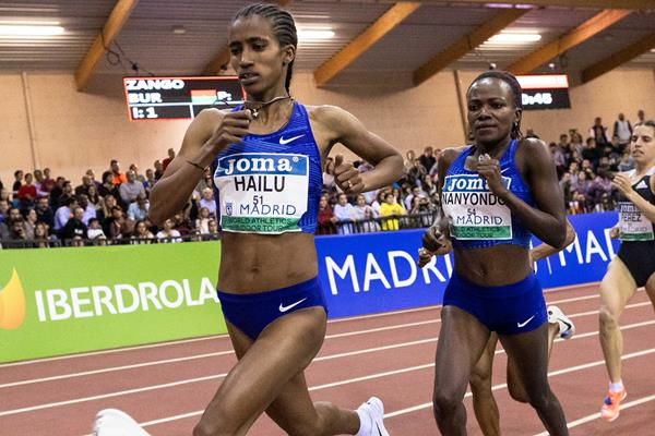 Lemlem Hailu in action in Madrid (Dan Vernon)