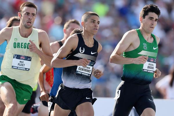 Matt Centrowitz in the 1500m at the 2013 US Championships (Getty Images)