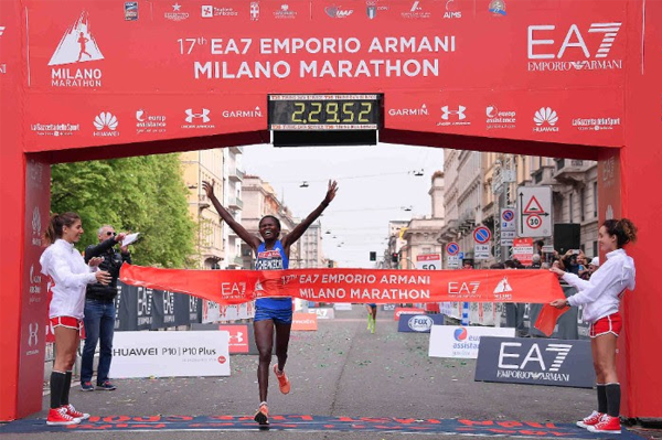 Sheila Chepkoech wins the Milan Marathon (Organisers)