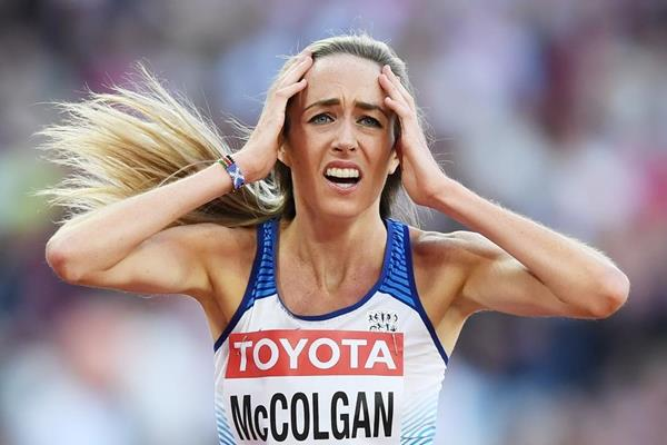 Eilish McColgan after her 5000m at the IAAF World Championships London 2017 (Getty Images)