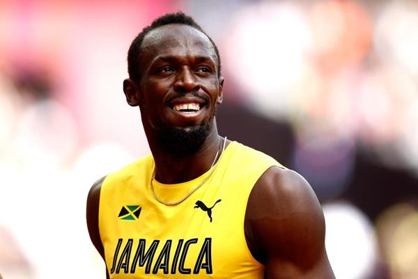 Usain Bolt before the heats of the 4x100m relay at the IAAF World Championships London 2017 (Getty Images)