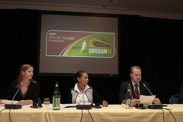 IAAF World Junior Championships Eugene 2014 delegation present their progress report (Giancarlo Colombo)