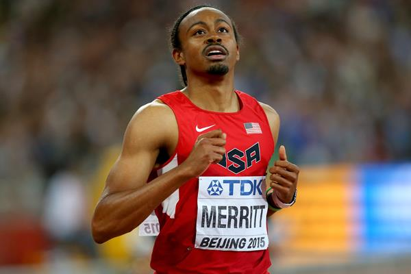 Aries Merritt in the 110m hurdles at the IAAF World Championships, Beijing 2015 (Getty Images)
