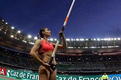 Yelena Isinbayeva- back on top of the world in Paris (Getty Images)