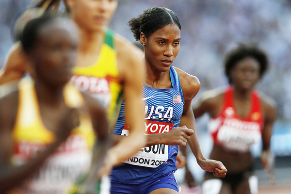 Ajee Wilson in the 800m at the IAAF World Championships London 2017 (AFP / Getty Images)