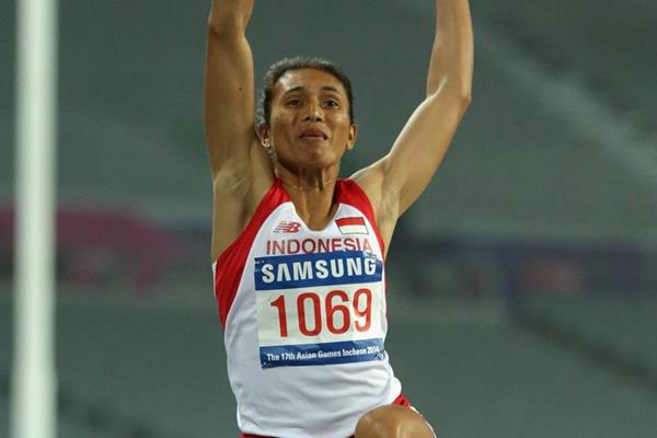 Maria Natalia Londa at the 2014 Asian Games (Getty Images)
