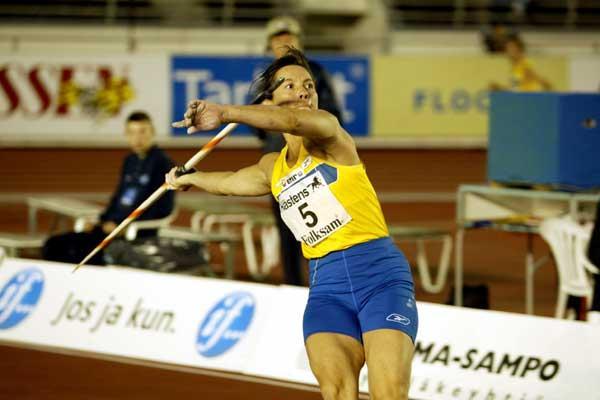 Elisabet Wahlander - 43yrs - 25 appearances at the Finnkampen, throws in Helsinki (Christain Westerback)