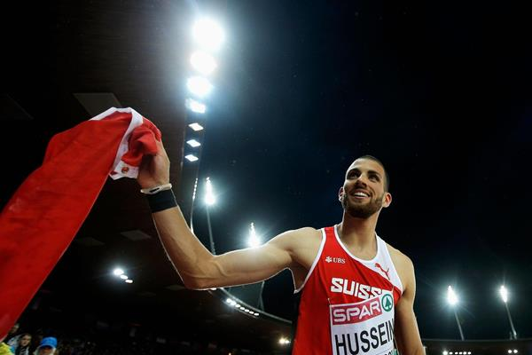 Kariem Hussein after winning the 2014 European 400m hurdles title (Getty Images)