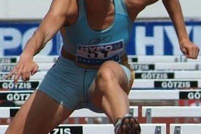 Carolina Klüft takes on the headwind in Gotzis (Lorenzo Sampaolo)
