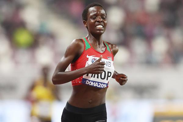 Agnes Tirop at the IAAF World Athletics Championships Doha 2019 (Getty Images)