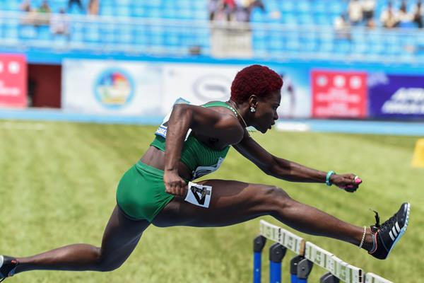 Tobi Amusan at the 2018 African Championships (AFP/Getty Images)