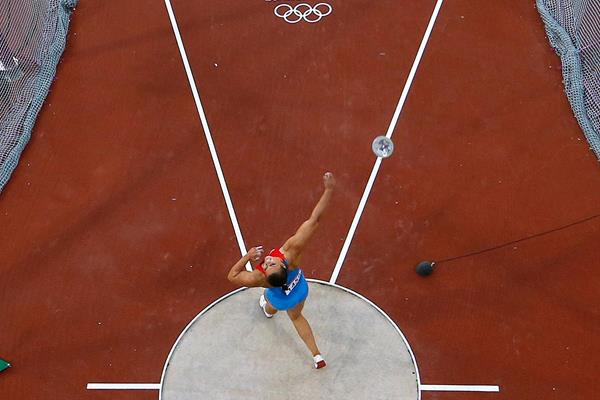 Sandra Perkovic in action in the Olympic discus final (Getty Images)
