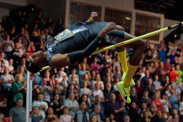 Luis Zaya in the high jump in Banska Bystrica (Pavol Uhrin / fotosport.sk)