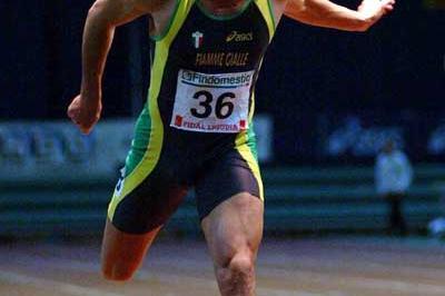 Simone Collio wins his first Italian 60m title (Lorenzo Sampaolo)