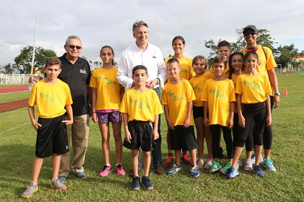 IAAF President Sebastian Coe at an athletics festival in San Juan (Hector Martinez)
