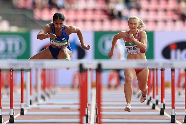 Tia Jones in the 100m hurdles at the IAAF World U20 Championships Tampere 2018 (Getty Images)