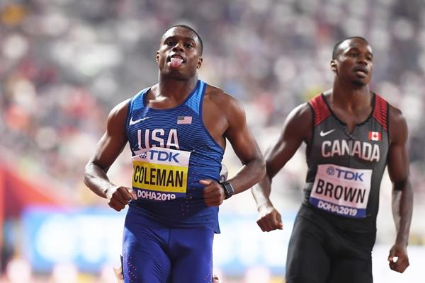 Christian Coleman in the 100m at the IAAF World Athletics Championships Doha 2019 (Getty Images)
