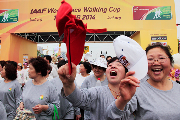 The mass event at the 2014 IAAF World Race Walking Team Championships in Taicang (Getty Images)