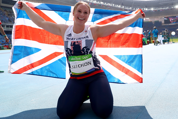 Sophie Hitchon after taking bronze in the hammer at the Rio 2016 Olympic Games (Getty Images)