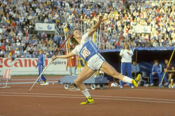 Tiina Lillak wins the 1983 World Championships (Getty Images)