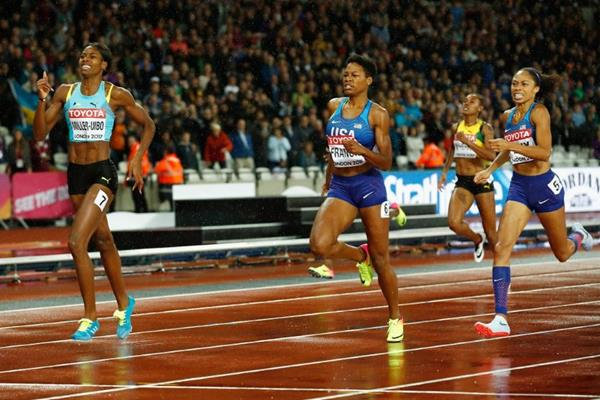 The last few metres of the women's 400m final at the IAAF World Championships London 2017 (Getty Images)