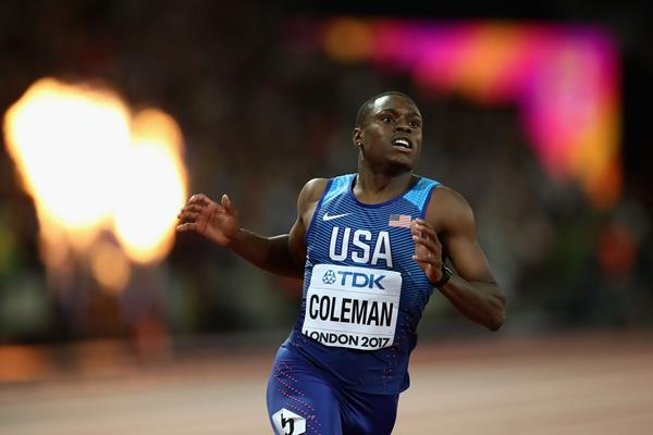 Christian Coleman in the 100m at the IAAF World Championships London 2017 (Getty Images)