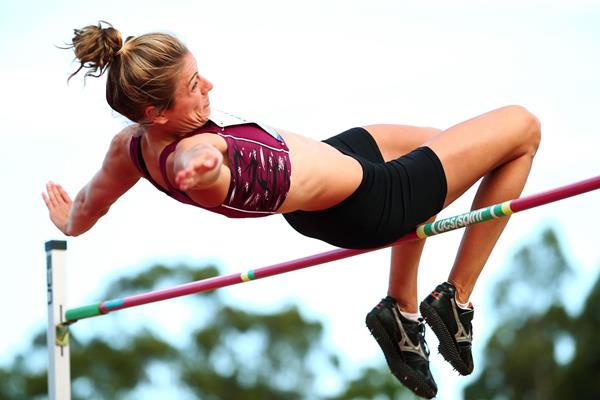 Australia's Sophie Stanwell in the heptathlon high jump (Getty Images)