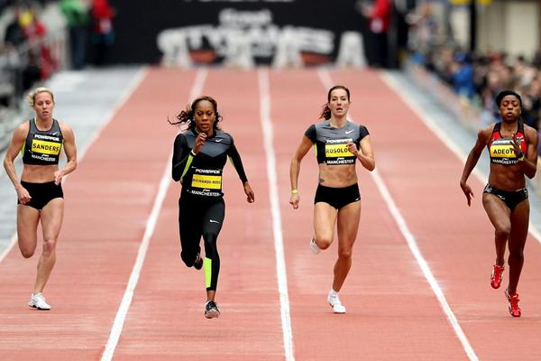Sanya Richards-Ross wins the 200m in Manchester in 22.71 (Getty Images)
