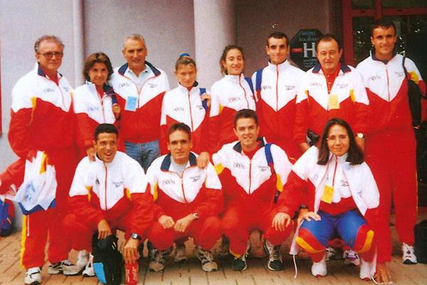 Spanish team at the 1995 World Half Marathon Championships (RFEA)