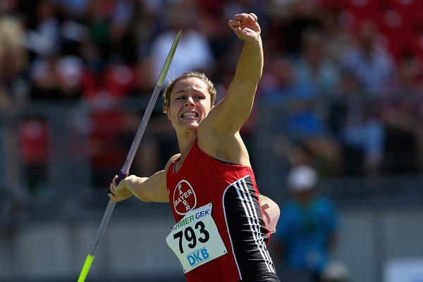 Katharina Molitor, winner of the javelin at the German Championships (Getty Images)