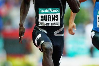 Marc Burns, winner of the men's 100m in Paris (Getty Images)