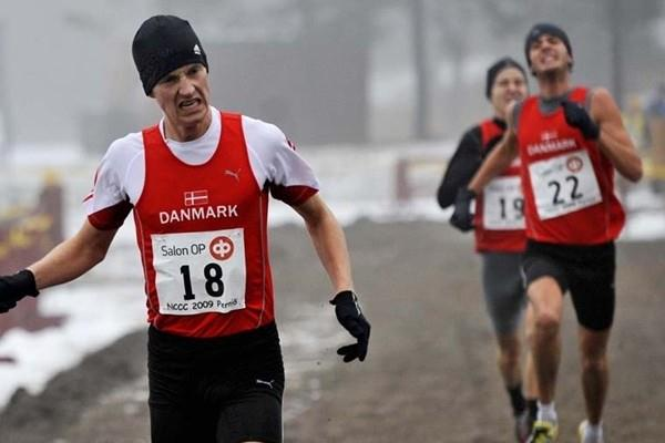 Morten Munkholm and Andreas Bueno lead a Danish 1-2-3 finish at the Nordic Cross Country Championships (Hasse Sjögren)