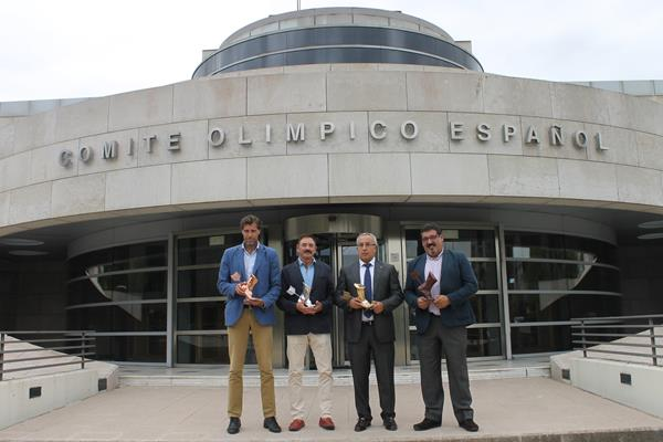 Organisers of the International Athletics Film Festival (FICA) at the Spanish Olympic Committee HQ (IAAF)