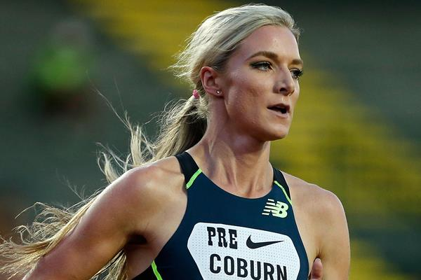 USA's Emma Coburn in action (Getty Images)