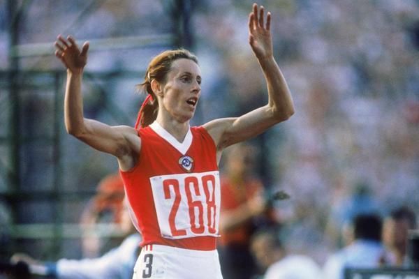 Tatyana Kazankina at the 1980 Olympics (Getty Images)