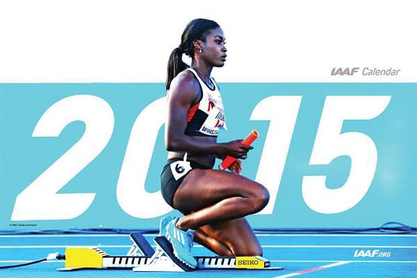 2015 IAAF desk calendar front page (Sandra Kurmann – AMS)