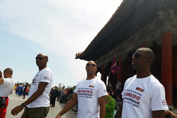 Mike Powell, Colin Jackson and Michael Johnson visit the Forbidden City (IAAF)