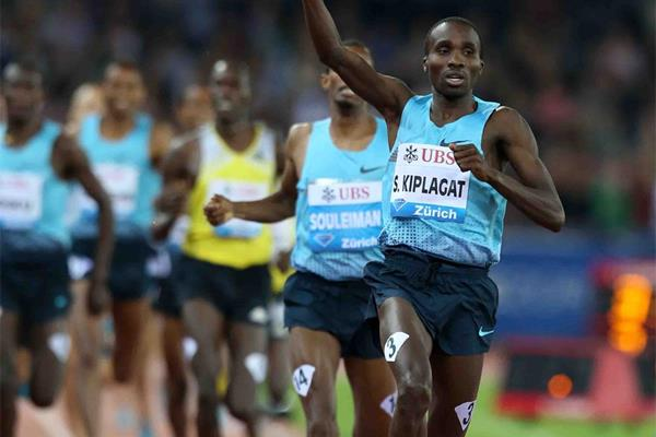 1500m winner Silas Kiplagat at the 2013 IAAF Diamond League meeting in Zurich (Jiro Mochizuki)