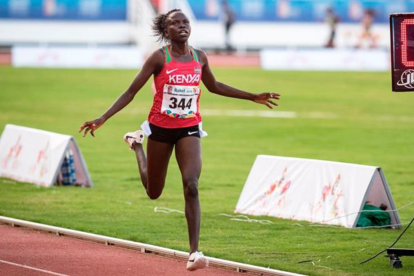 Lilian Rengeruk wins the 5000m at the African Games (AFP / Getty Images)