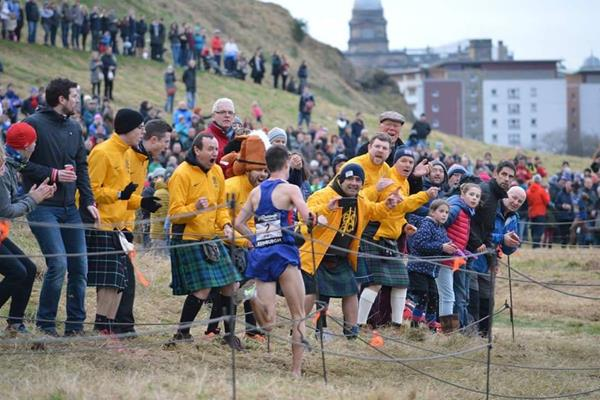 Callum Hawkins in action at the Great Edinburgh X-Country (Katie Dunlop)