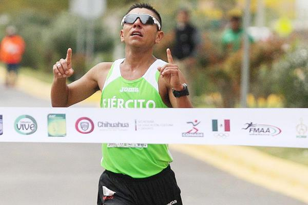 Jose Leyver Ojeda takes the 50km race walk in Chihuahua (Organisers)