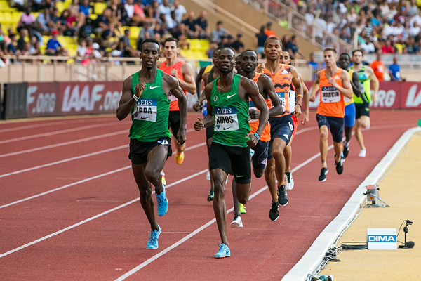 Nijel Amos in the 800m at the IAAF Diamond League meeting in Monaco (Philippe Fitte)