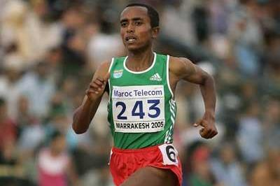 Abreham Cherkos Feleke of Ethiopia wins Boys' 3000m final at the World Youth Championships (Getty Images)