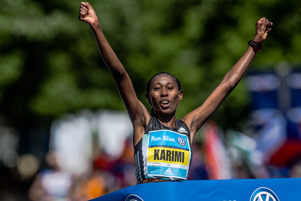 Lucy Karimi wins the Prague Marathon (Organisers)