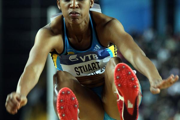 Bianca Stuart of the Bahamas competes in the Women's Long Jump Final during day three - WIC Istanbul (Getty Images)