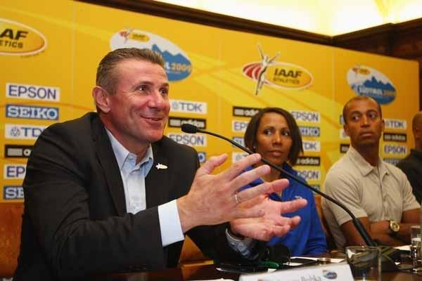 IAAF Vice President Sergey Bubka during the Press Conference (Getty Images)