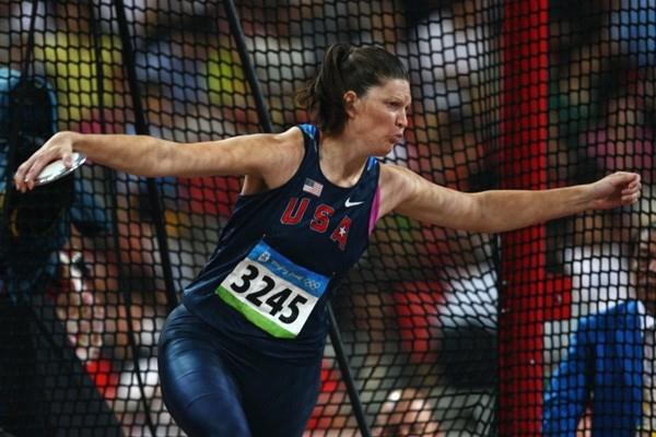 Stephanie Brown-Trafton, surprise winner of the women's Olympic discus title (Getty Images)